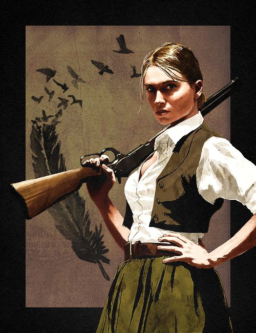 This is Bonnie from Red Dead Redemption. Maybe a little bit stereotyped and martial but still beautiful somehow ...