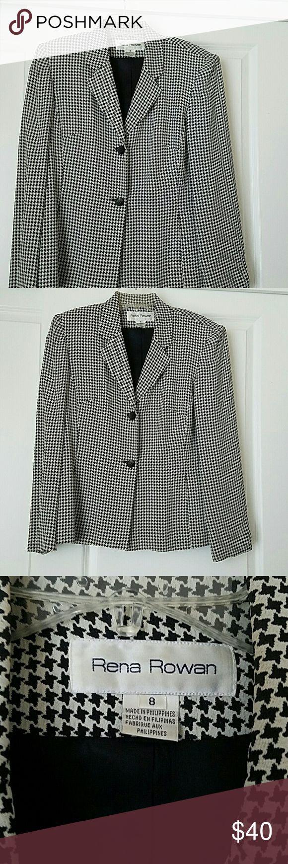 Selling this Checkered Blazer on Poshmark! My username is: debbiejager. #shopmycloset #poshmark #fashion #shopping #style #forsale #Rena Rowan #Jackets & Blazers