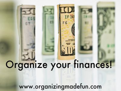 Get your finances organized!