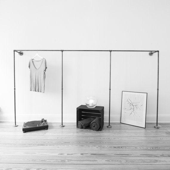 Pijp van open kledingkast frame kleding rek door VariousDesignShop