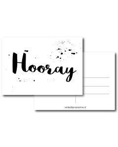 Hooray A6 #quefem #quefemwebshop #winkeltjevananne #design #illustratie #babysitter #babysitplanner #planner #stationary #postcard #kaart #kaartjes #handlettering #interior #interiordesign #hooray #birthday