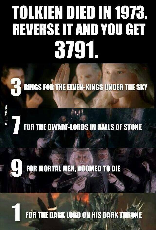Tolkien's year of death actually reflects the ring-lore | geeky-by-design tumblr