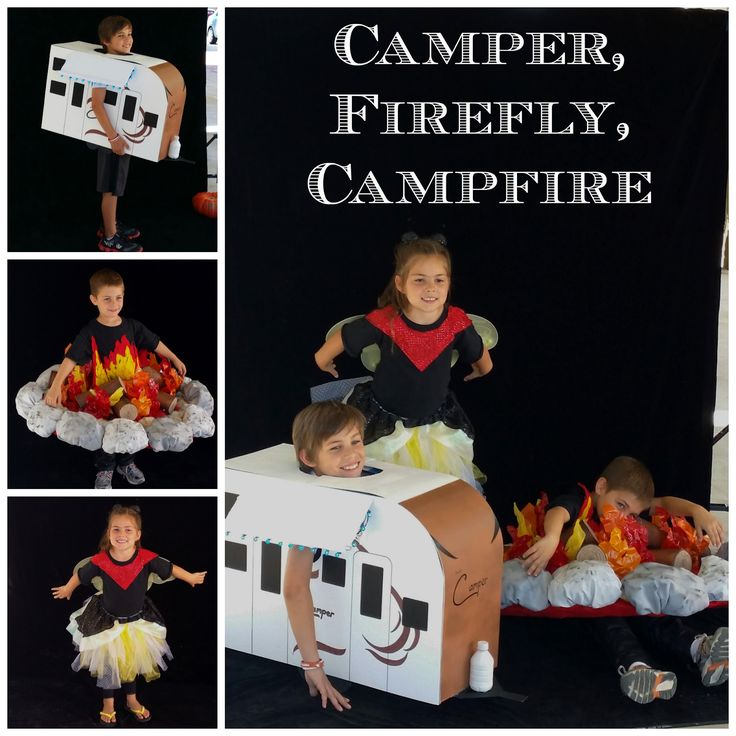 camping themed halloween costumes campfire rv travel trailer roasted marshmallow s - Halloween Trailers