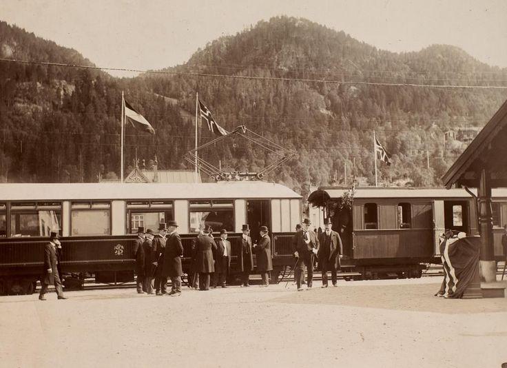 [Løkkebanens åpning 15.07.1910. Ved Løkken. fra marcus.uib.no