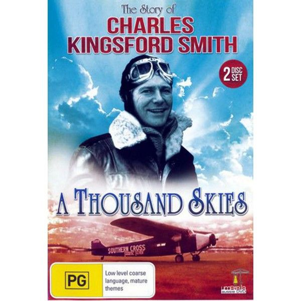 Dvd of the Life Story Sir Charles Kingsford Smith 1985 TV mini series Movie.