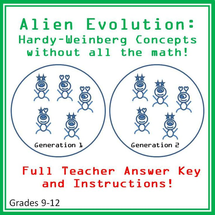 Alien Evolution A Hardy Weinberg Introduction To