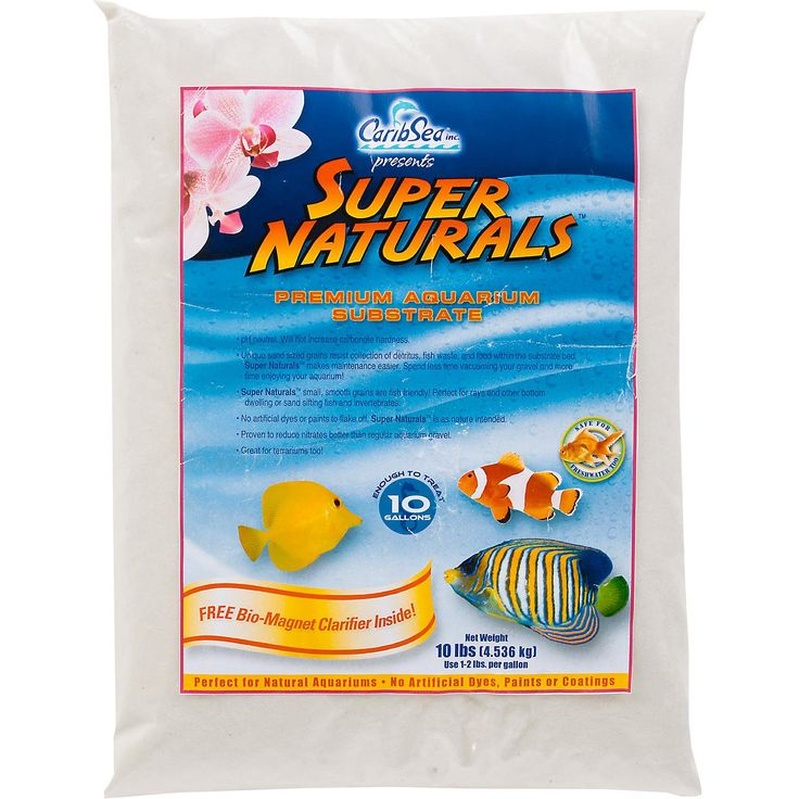 Premium aquarium sand that is pH neutral and will not increase carbonate hardness. Unique sand sized grains resist the collection of detritus, fish waste and food within the substrate bed. Makes maintenance easy.
