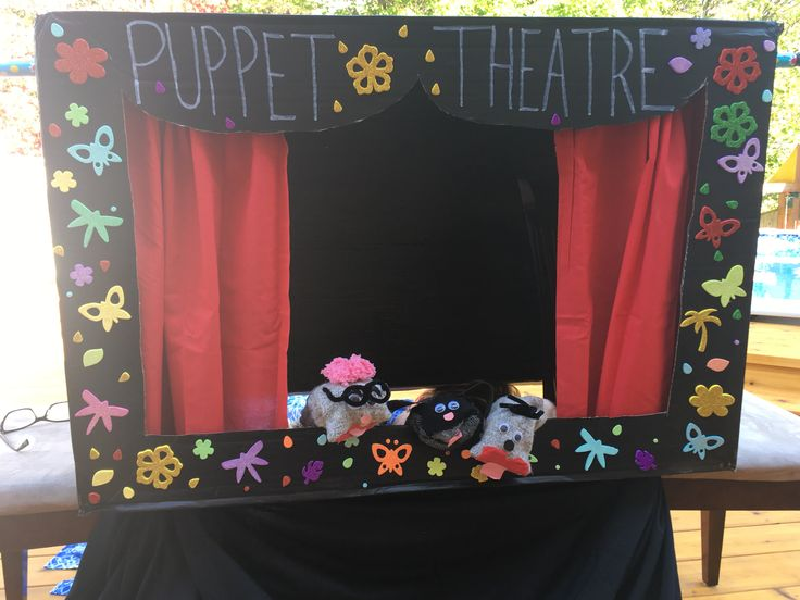 Puppet Theatre with sock puppets