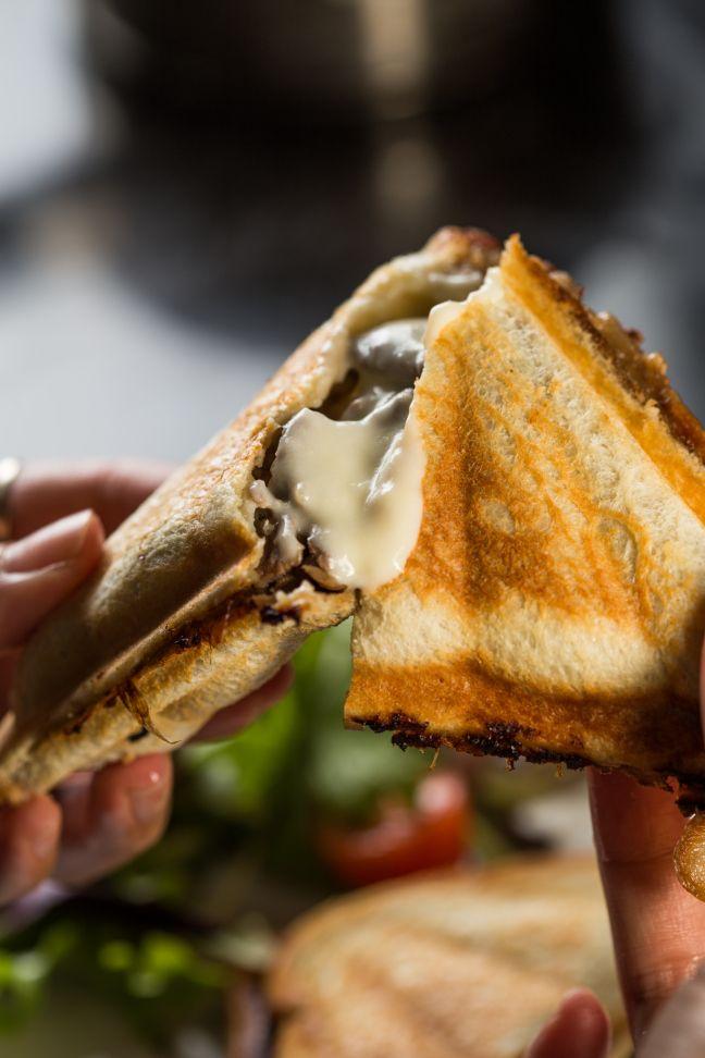 Philly Cheese Steak Jaffle! Inspired by Masterchef Australia!