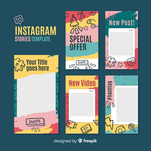 Download Instagram Stories Template With Empty Frame For Free Social Media Design Graphics Instagram Story Template Story Template