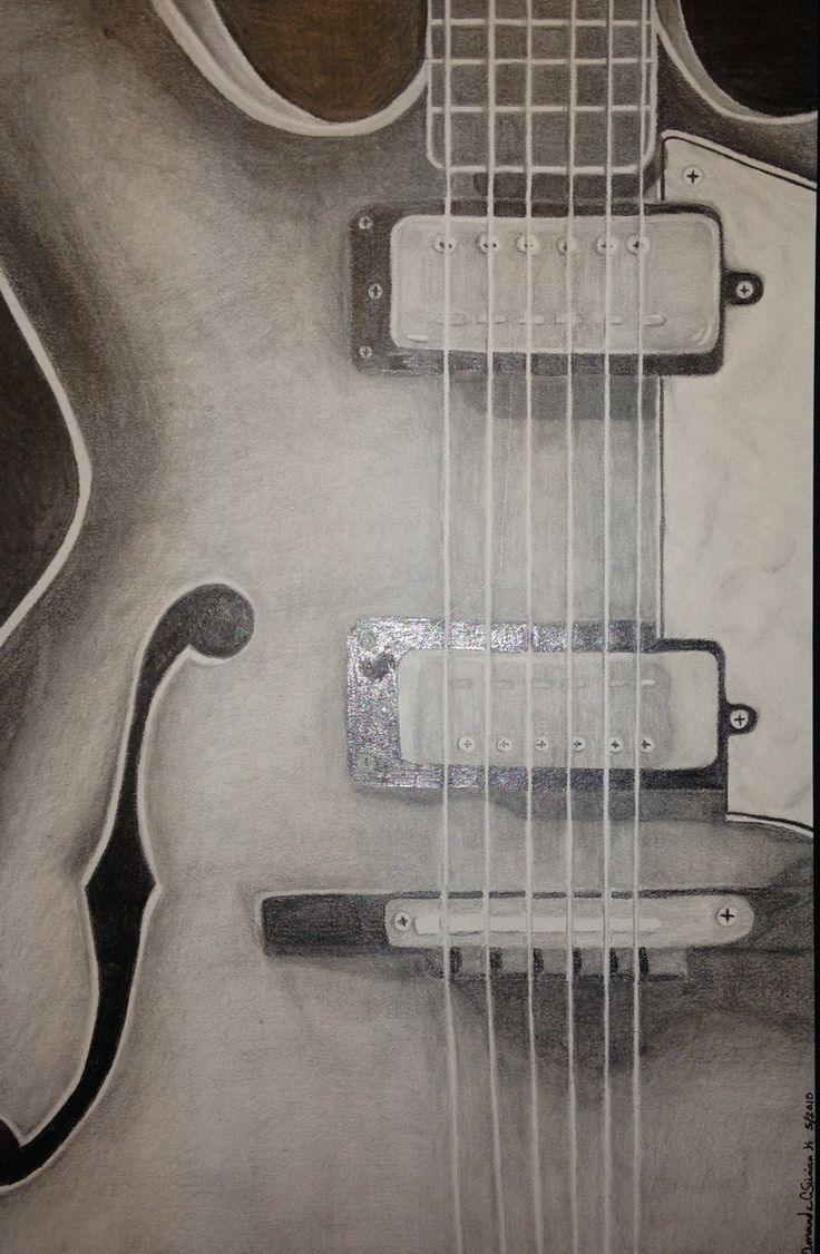 """Guitar, Solo"" The simplicity of a guitar, waiting to be played. Artist: Amanda Sirian."