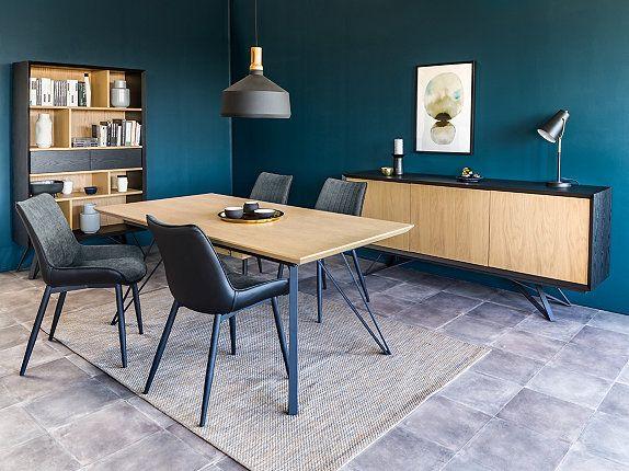 Chaise Bi Matiere St Moritz Gris Noir Mobilier De Cuisine Mobilier Salon Deco Maison