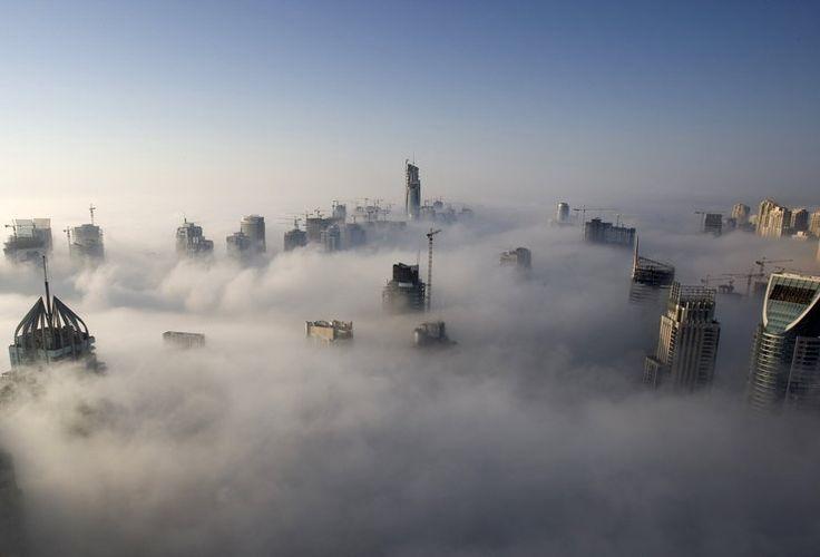 Dubaj w porannej mgle #inspiracje