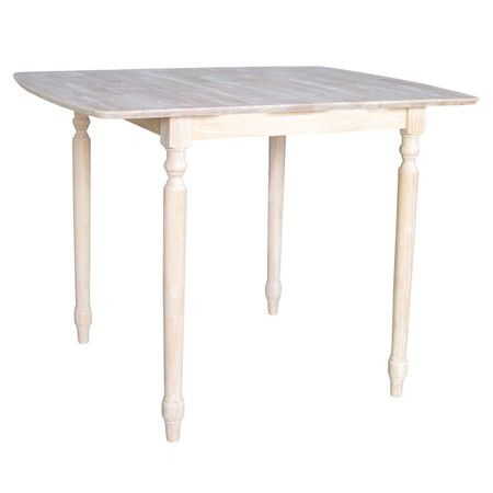 """You should see this Unfinished Turned 36"""" Butterfly Extension Table on Daily Sales!"""