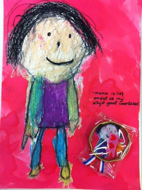 Moederdag cadeautje van 4 jarige kleuter@ Blog van Floortje