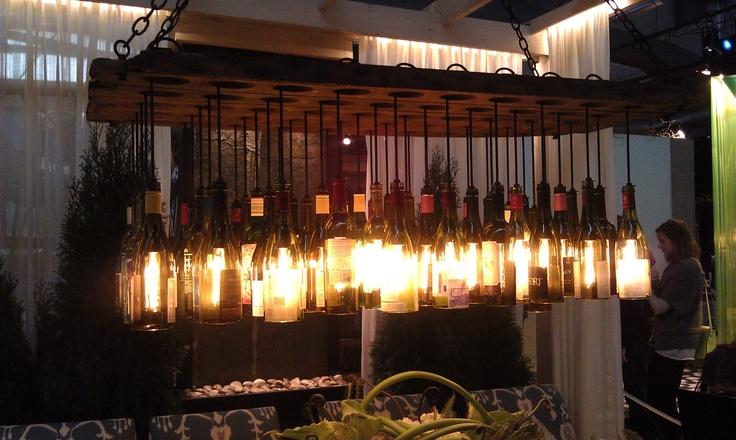 Wine Bottle Chandelier (AD Design Show NYC)