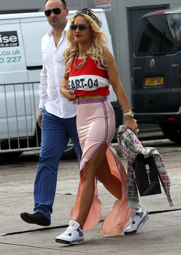 rita ora wearing air jordan iv 4 cement rita ora