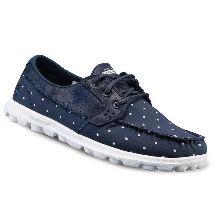 Skechers On-The-Go Dotty Women's Boat Shoes, Size: 7.5, Med Blue