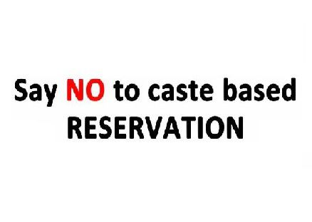 Say no to #RESERVATION! Read: http://poojakshirsagar.blogspot.in/2016/02/the-fight-to-be-called-backward.html