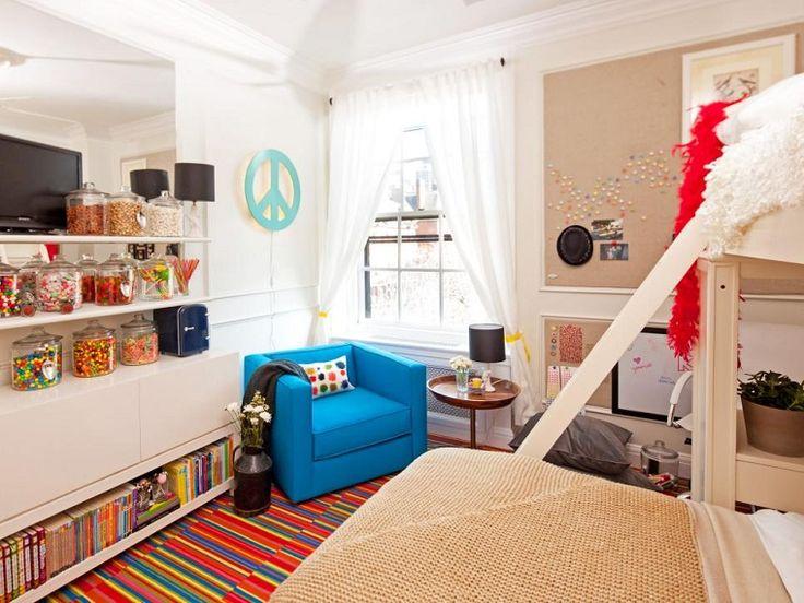 Dormitorio para adolescentes con butaca azul dormitorios - Butacas para dormitorios ...