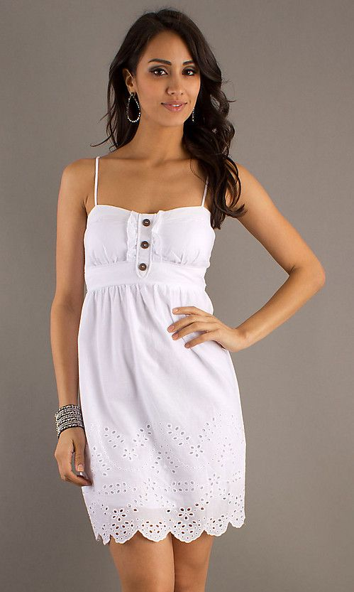 Short White Casual Summer Dress Cheap A Line Wedding Dresses Not Elegant But Nice And Breezy For Hot Bride