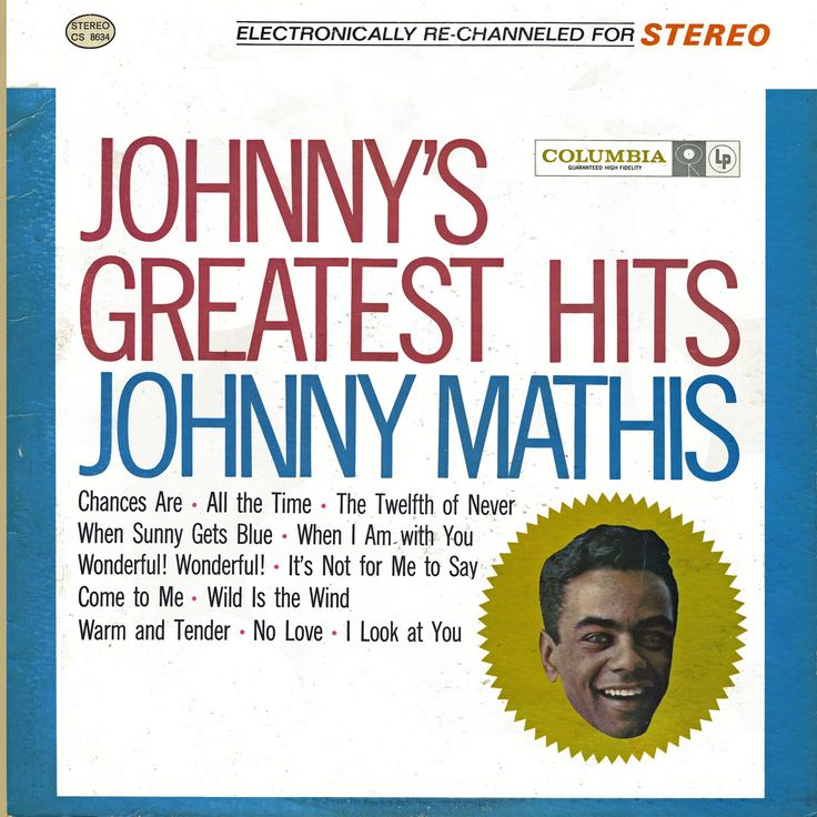 Johnny Mathis - Johnny's Greatest Hits, Side One - YouTube |Johnny Mathis Greatest Hits Youtube