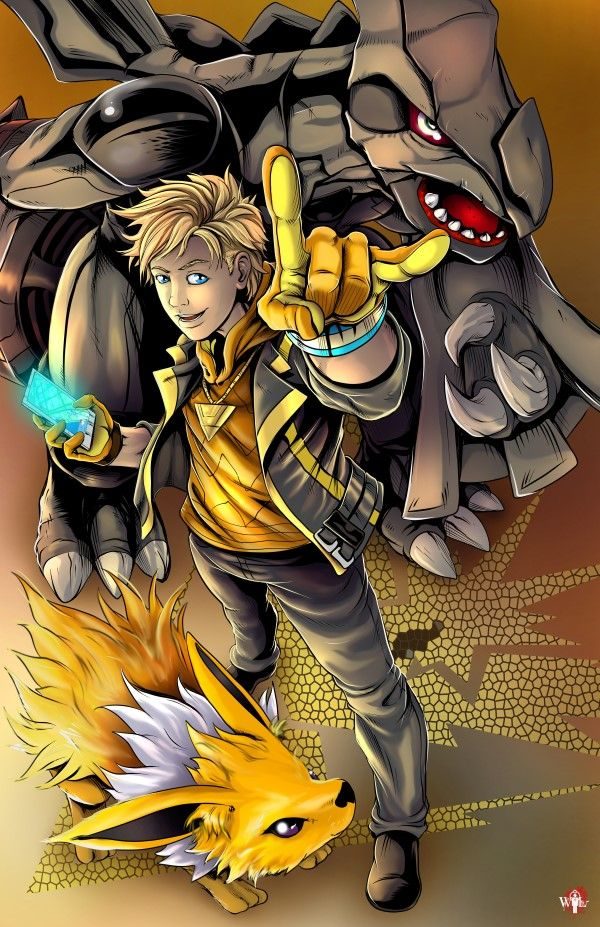 Pokemon Go Team Instinct - Spark  Art by Wil Woods of Musetap