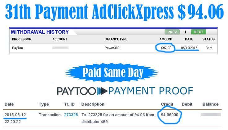 Ad Click Xpress is Paying 31th Payment $94.06 to PayToo	 Earn 4% daily: http://www.adclickxpress.com/?r=xSpueJXBJ6&p=mx