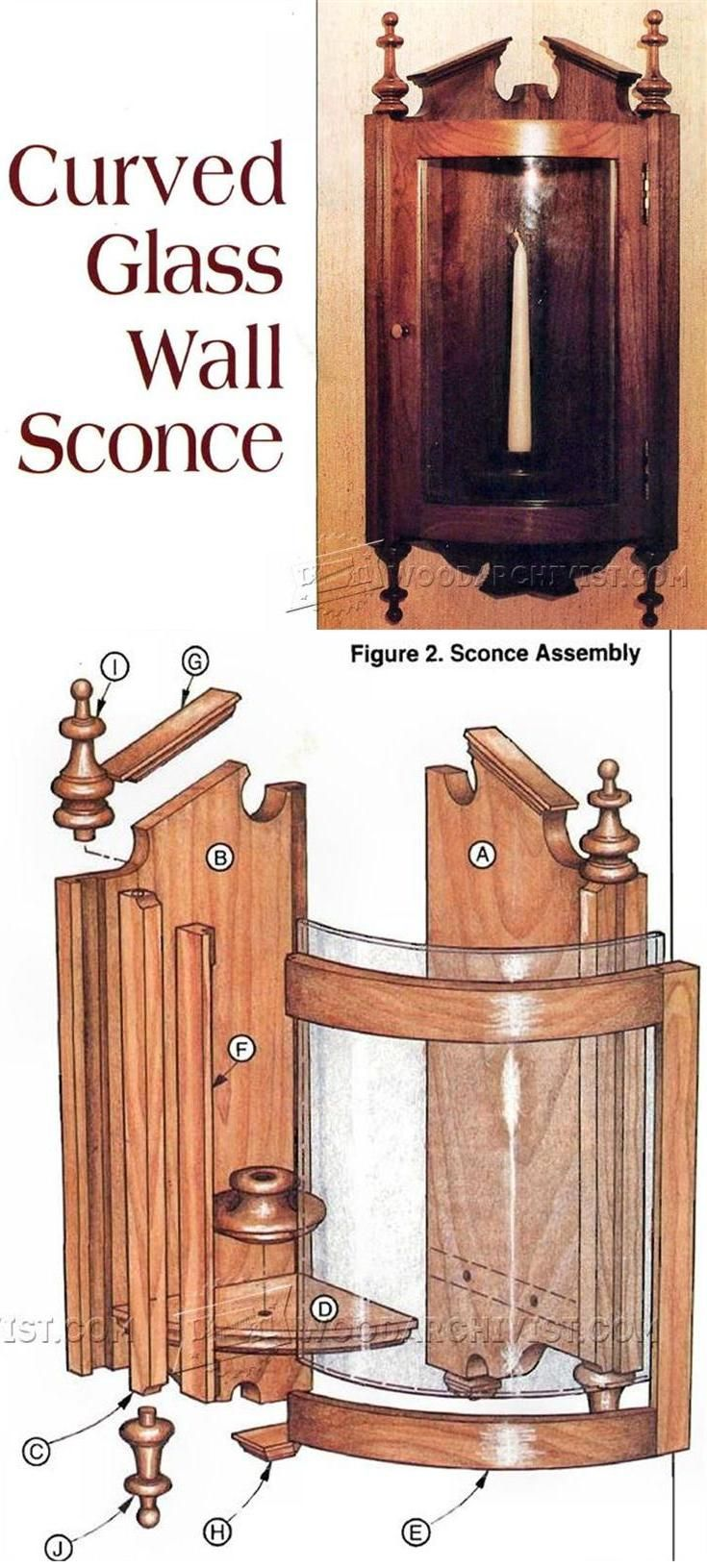 Curved Glass Wall Sconce Plans - Woodworking Plans and Projects   WoodArchivist.com