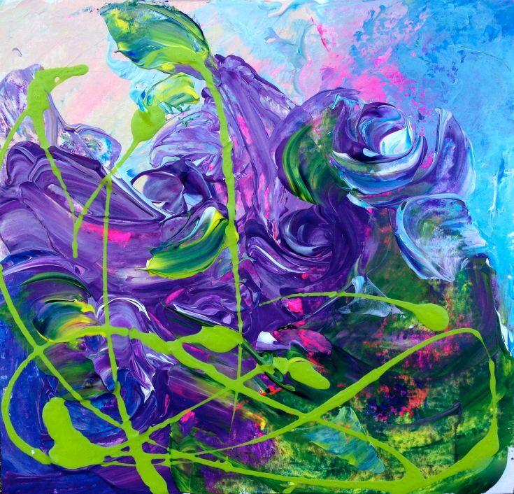 purple flower paintings for sale