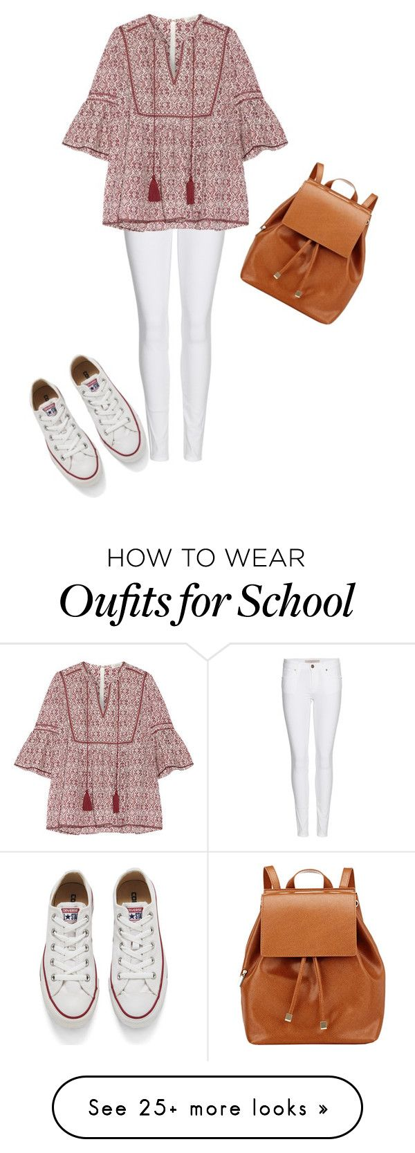 """""""Back to school look"""" by creece-massoudi on Polyvore featuring Burberry, Talitha, Converse and Barneys New York"""