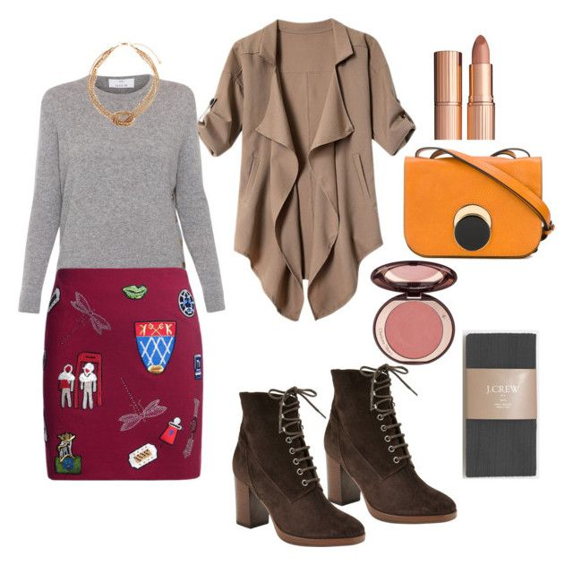 Back to grad school -2, Entrepreneur casual work outfit by sarajaradat on Polyvore featuring polyvore fashion style Allude J.Crew John Lewis Marni Accessorize Charlotte Tilbury clothing
