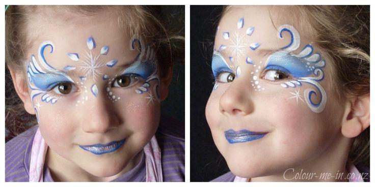Afbeeldingsresultaat voor easy frozen crown face paint
