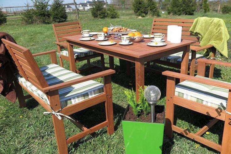 Meble ogrodowe drewniane zestaw 6 osobowy OKAZJA!