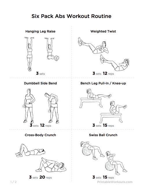 """Great """"Six Pack Abs"""" Core Strength Workout Routine 