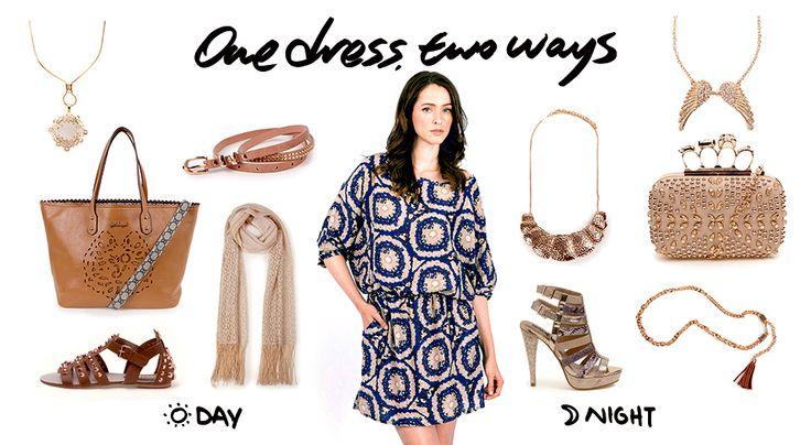 1 Dress, 2 ways   http://fullahsugah.gr/   #Fashion #Combinations #InspireMe #FullahSugah