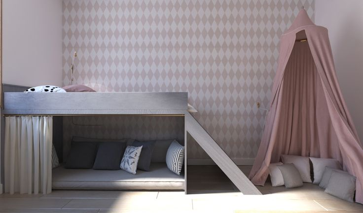 #kids room #girls room #monikaskowronska.pl, #baldachim #bed #lozko