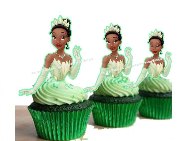 Princess+and+the+Frog+Tiana+DIY+Prin+Your+Own+Birthday+Party+Cupcake+Decoration+Toppers