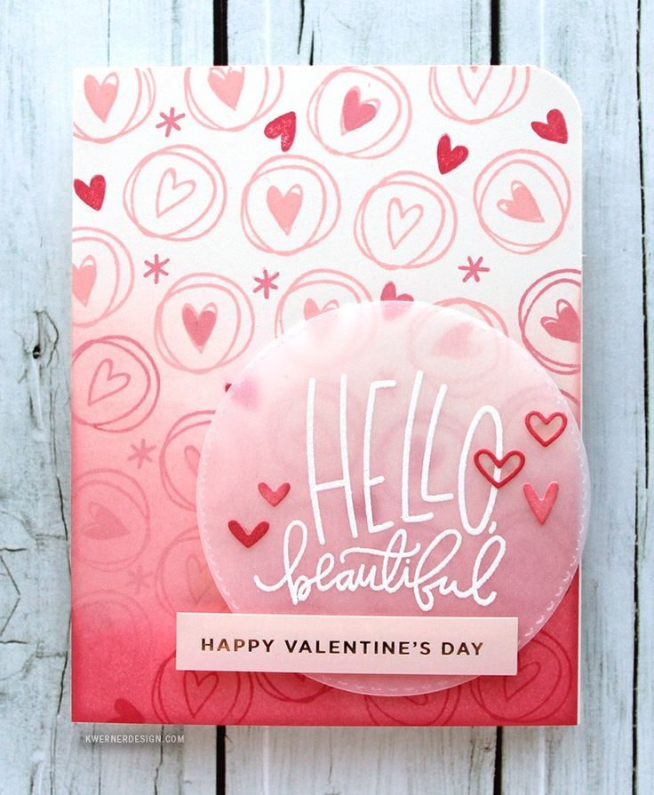 Another Easy Valentine's Day Card Using a Card Kit - Simon Says Stamp February 2016 Card Kit. Ink blending, all stamped card.