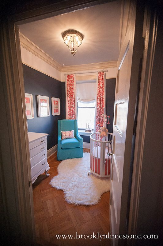 So it's probably weird to pin nursery pictures for @hollyburns right? But you know, the walls are navy already and this is way cute.