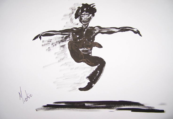Ink on Bockingford paper.  A2 size.  I was enthralled by this ballet dancer when I first came across the photo.  I then set out to draw and paint him in different media/mediums.  Which is your favorite?  R400 unframed.  R1100 framed.