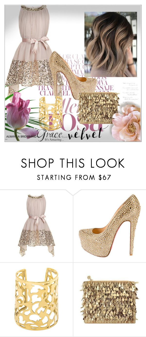 """""""Look for a wedding"""" by alicia-307 on Polyvore featuring mode, Monsoon, Christian Louboutin et Forest of Chintz"""