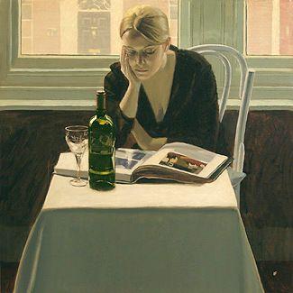 Reading and Art: Iain Faulkner, Girl reading, 2004