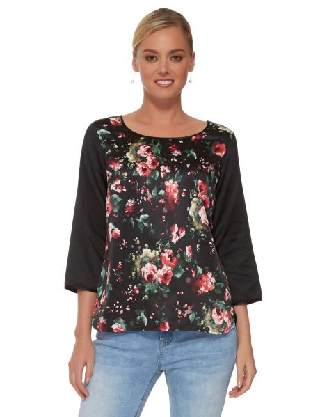 Zest Weekend Floral Print Shell Top product photo