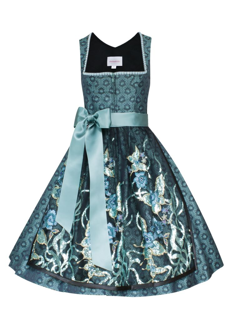 Traditional German Dirndl dress in a princess style