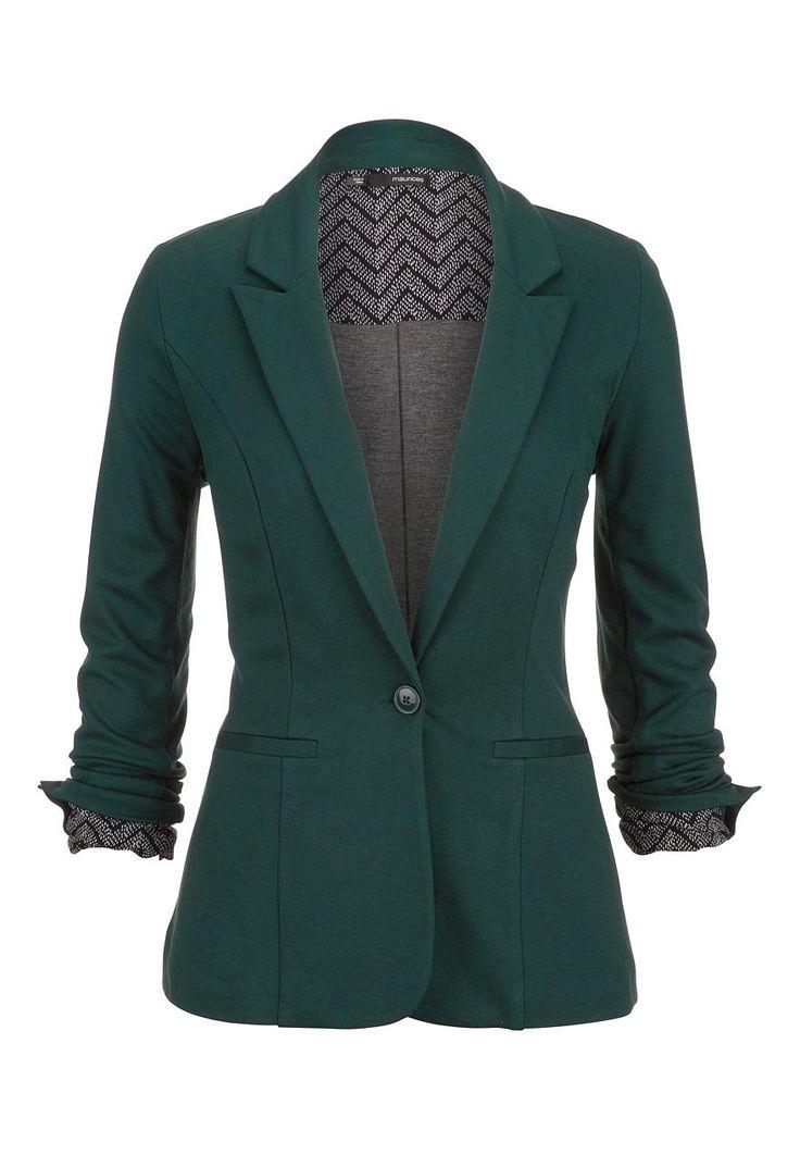 green Chevron cuff knit blazer - maurices.com