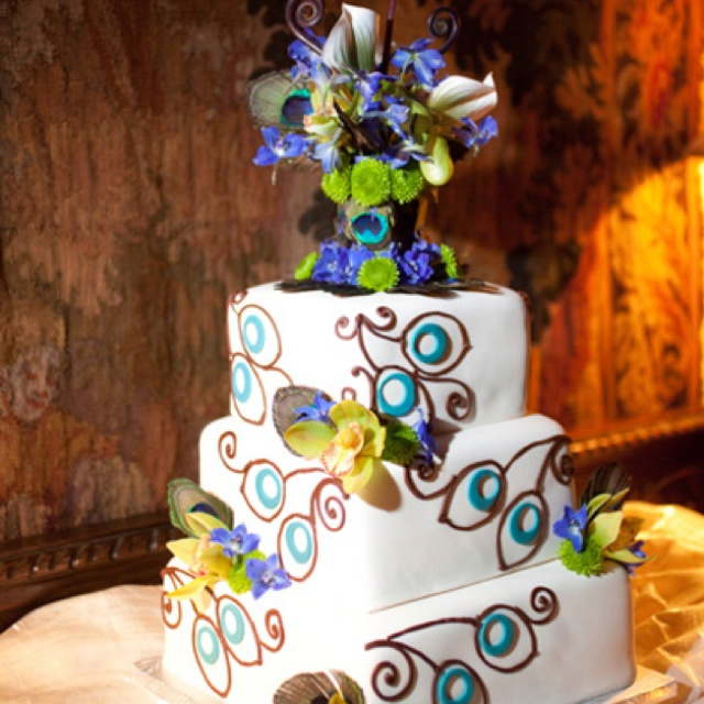 Peacock Feather Wedding Cake: 35 Best My Peacock Beach Wedding Ideas (just Have To Get