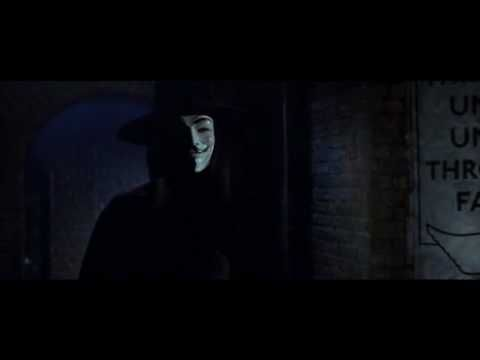 "V's alliterative introductory monologue upon meeting Evey from the movie V FOR VENDETTA    -=-=-=-=-=-=-=-=-=-    I can assure you, I mean you no harm.    -""Who are you?""    Who? Who is but the form following the function of what; and what I am is a man in a mask.    -""Oh, I can see that.""    Of course you can..."