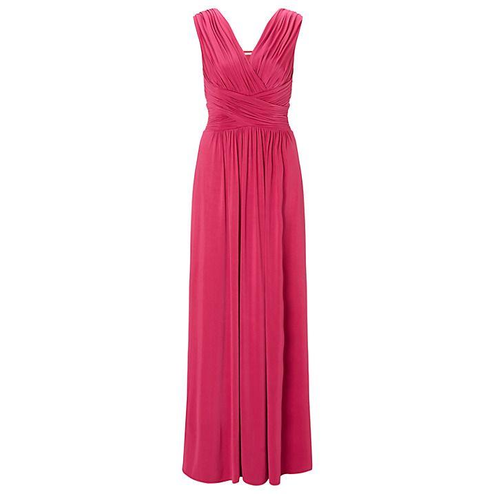 Buy John Lewis Frances Jersey Maxi Dress, Pink, 8 Online at johnlewis.com