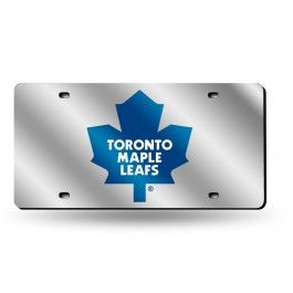 Toronto Maple Leafs Laser Etched License Plate/Tag (Silver)